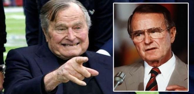 George H.W. Bush hastaneye kaldırıldı!