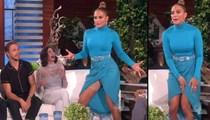Jennifer Lopez'den canlı yayında frikik!