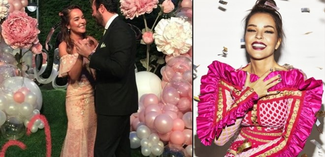 Bengü - Selim Selimoğlu çifti nişanlandı