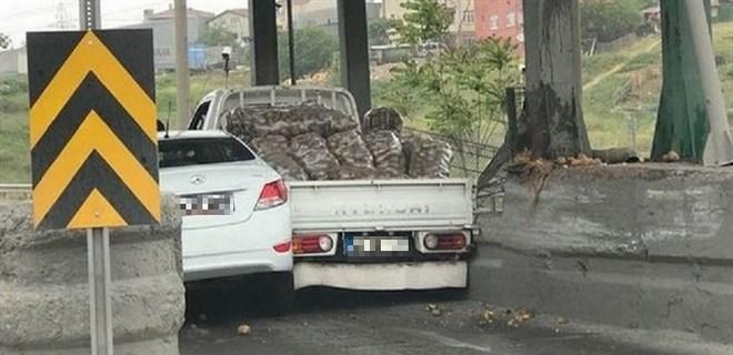 İnatçı sürücüler böyle sıkıştı!