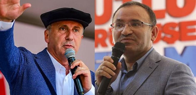 Hükümet Sözcüsü Bozdağ'dan Muharrem İnce'ye tepki