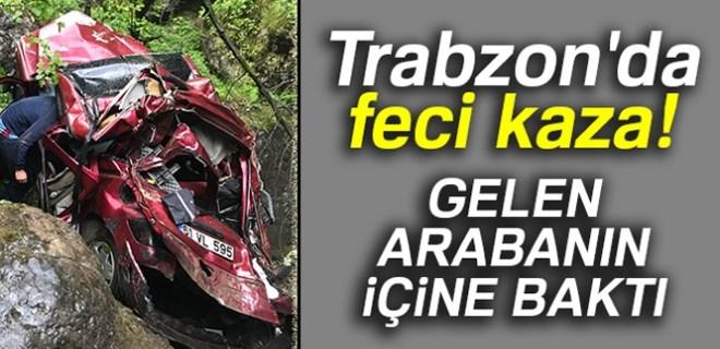 Trabzon'da kan donduran trafik kazası