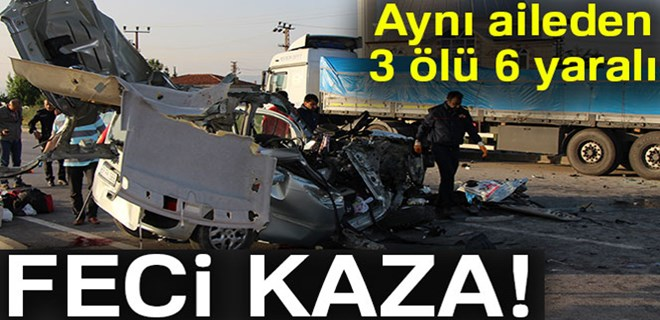 Amasya'da feci trafik kazası!