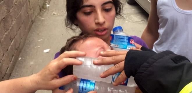 Cezaevi firarisi evi ateşe verdi, bebek kurtarıldı!