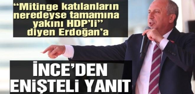 İnce'den Erdoğan'a Diyarbakır yanıtı