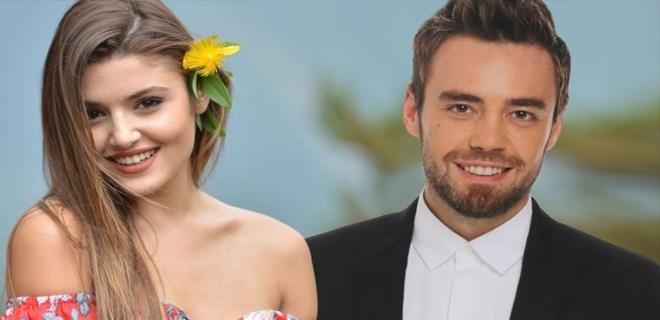 Hande Erçel ve Murat Dalkılıç'ın romantik buluşması