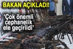 Hakkari'de en yüksek miktardaki PKK cephaneliği ele geçirildi!