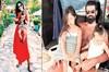 Ligin bitmesini fırsat bilen FB'nin tecrübeli kalecisi Volkan Demirel, eşi ve çocuklarıyla tatile...