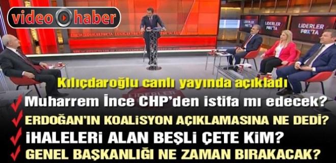 Kemal Kılıçdaroğlu FOX TV'de soruları yanıtladı