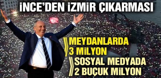 Muharrem İnce'nin muhteşem İzmir mitingi
