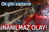 Samsun'da köprü bariyeri otomobilin ön camına ok gibi saplandı. Kazada 1'i ağır 2 kişi yaralandı.