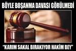Sakal bırakan karısına boşanma davası açtı!