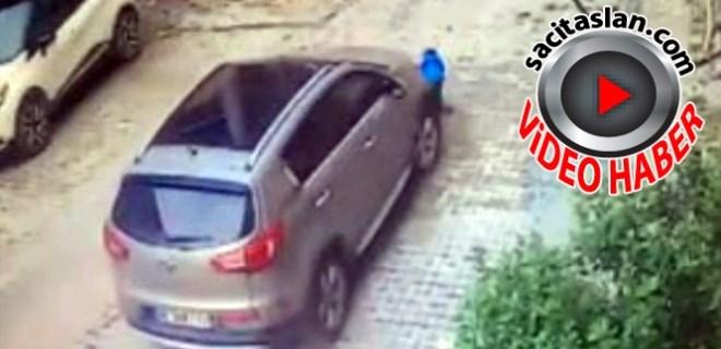 Annesi aracıyla oğlunun üzerinden geçti!