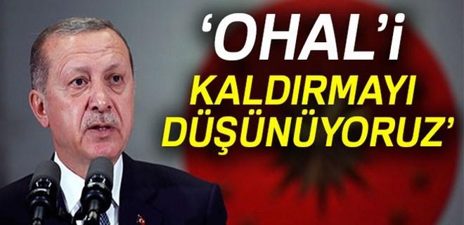 Cumhurbaşkanı Erdoğan'dan OHAL açıklaması!
