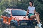 Fahriye Evcen'in off road tarzı