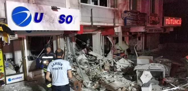 Samsun'da şiddetli patlama!