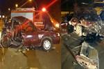 Feci kazada otomobil ikiye ayrıldı!