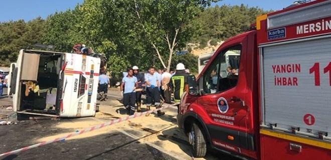 Mersin'de feci trafik kazası!..