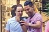 Kolombiyalı futbol yıldızı Radamel Falcao ile eski Formula 1 pilotu Felipe Massa, önceki gün...
