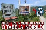 Mesut Özil'in Cumhurbaşkanı Erdoğanlı tabelasına törenli açılış