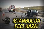Kuzey Marmara otoyolunda feci kaza!