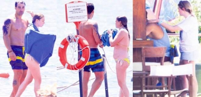 Derya Şensoy ve Sarp Levendoğlu'nun aşk tatili