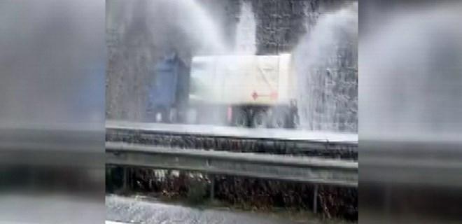 Giresun'da LPG yüklü tanker kaza yaptı