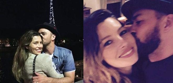 Jessica ve Justin'den Paris'te aşk pozu!