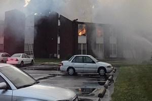 Türk ailelerin yaşadığı yerde yangın çıktı!