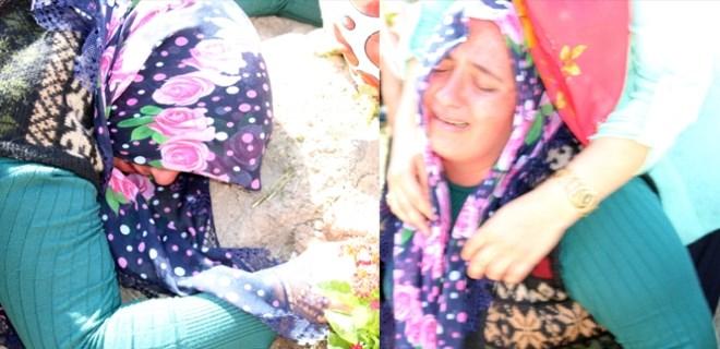 Acılı anne, Leyla'nın mezarına sarılarak gözyaşı döktü