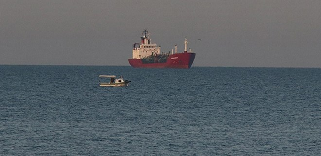 Sivriada açıklarında gemi kazası