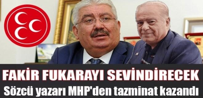 Sözcü yazarı MHP'den tazminat kazandı!