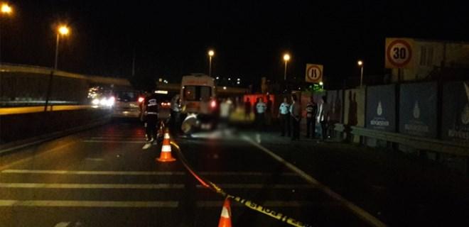 Beylikdüzü'nde feci motosiklet kazası!