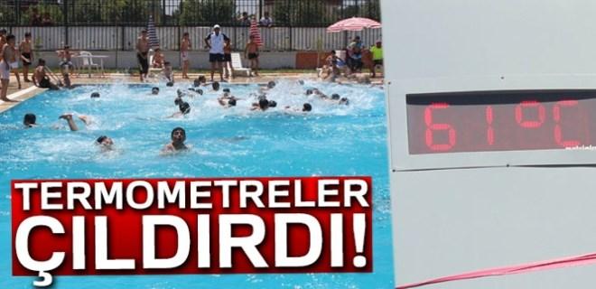 Termometreler Şanlıurfa'da 61 dereceyi gösterdi!