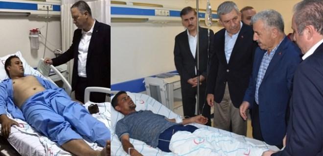 Tren kazasında yaralananları ziyaret ettiler