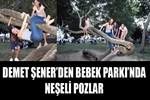 Demet Şener'den Bebek Parkı'nda neşeli pozlar
