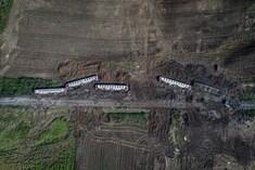 Tren faciası havadan görüntülendi