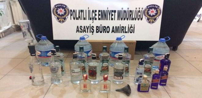 Ankara'da kaçak 124 şişe içki ele geçirildi