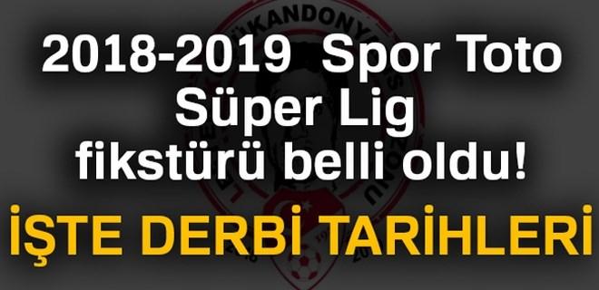 2018-2019 Süper Lig fikstürü belli oldu