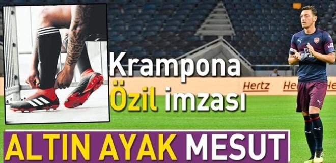 Krampona Mesut Özil imzası