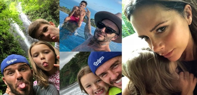 Beckham Ailesi, Bali tatilinde!