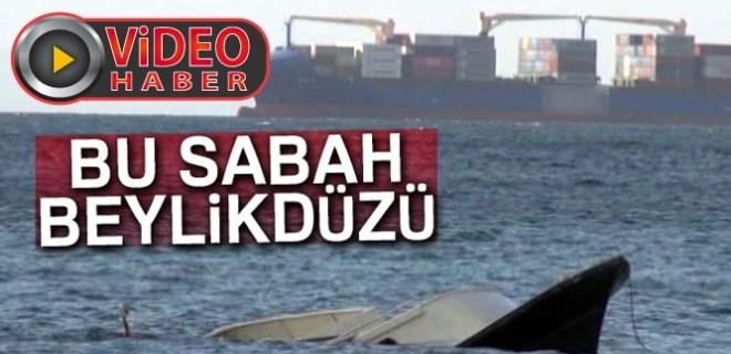 Batan teknede can pazarı yaşandı!