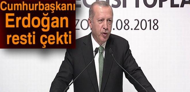 Cumhurbaşkanı Erdoğan: 'Oyununuzu gördük ve meydan okuyoruz'