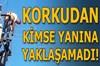 Antalya'nın Manavgat ilçesinde enerji nakil hattı ihalesini alan yüklenici firma işçisi, elektrik...