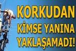 Antalya'da akıma kapılan işçi böyle kurtarıldı