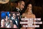 Survivor Gizem evlendi, dostları yalnız bırakmadı!