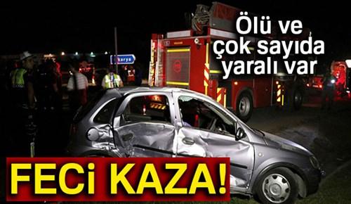 Sakarya'da feci kaza: 1 ölü, 8 yaralı