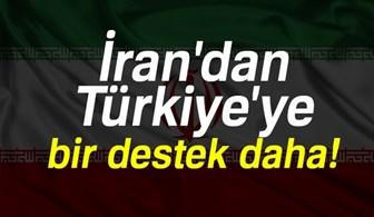 İran'dan Türkiye'ye bir destek daha