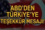 ABD'nin Ankara Büyükelçiliği'nden teşekkür