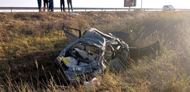 Bayram sabahı feci kaza!..